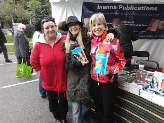 Beside the Inanna Booth with Luciana Ricciutelli and Lisa de Nikolits
