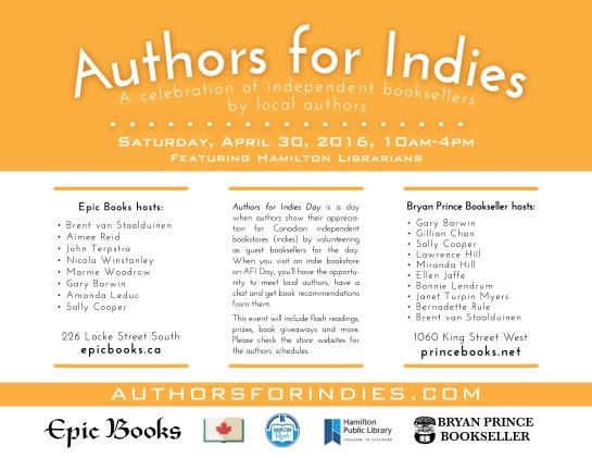 Authors for Indies poster outlines