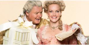 Geraint Wyn Davies as Sir Peter Teazle and Shannon Taylor as Lady Teazle. Photo by Lynda Churilla