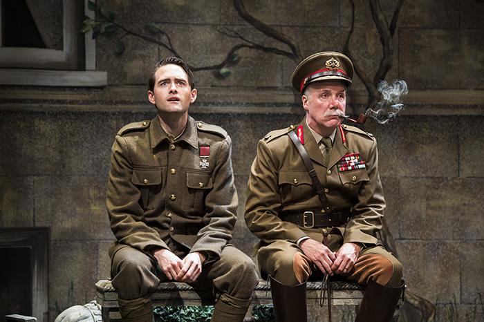 Ben Sanders as O'Flaherty and Patrick McManus as General Sir Pearce Madigan in O'Flaherty V.C. Photo by Emily Cooper.