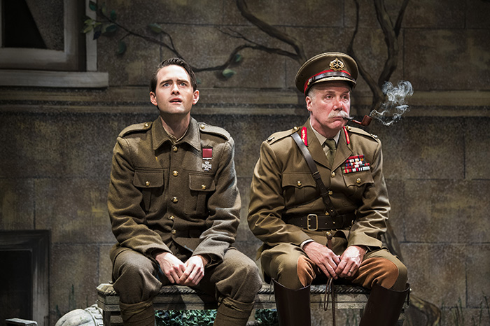 Ben Sanders as O'Flaherty and Patrick McManus as General Sir Pearce Madigan in O'Flaherty V.C. Photo by Emily Cooper.